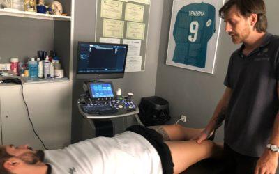 Ecografía zona interna de rodilla zona de menisco interno2 400x250 - Cómo tratar correctamente las lesiones de rodilla