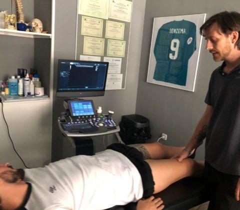 Ecografía zona interna de rodilla zona de menisco interno2 480x420 - Cómo tratar correctamente las lesiones de rodilla